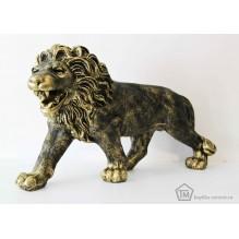 Лев на лапах бронзовый правый