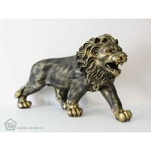 Лев на лапах бронзовый левый