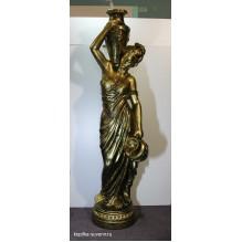Девушка с кувшином бронза