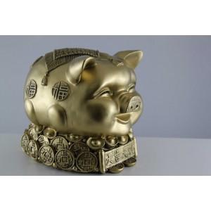 Поросенок денежный окраска под бронзу