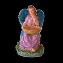 Ангел с корзиной цветной