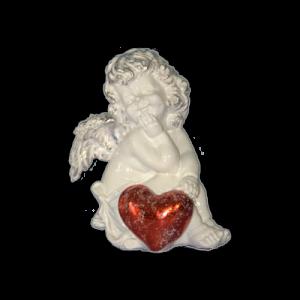 Ангел с красным сердечком