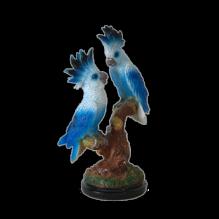 Два попугая синие