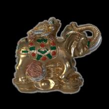 Жаба на слоне окраска цветная