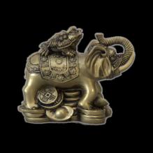Жаба на слоне окраска под золото