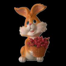 Заяц с розами