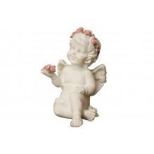 Ангел с розами в руке (ГИПС)