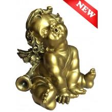 Ангел с дудкой (бронза)