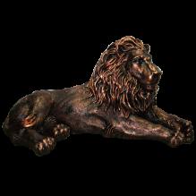 Лев лежащий левый окраска под бронзу