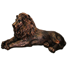 Лев лежащий правый окраска под медь